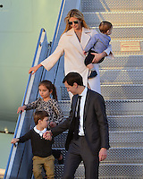 www.acepixs.com<br /> <br /> February 10 2017, West Palm Beach, FL<br /> <br /> Ivanka Trump, Jared Kushner and their children arrive with President Donald Trump and his wife Melania Trump on Air Force One at the Palm Beach International Airport as they prepare to spend part of the weekend together at Mar-a-Lago resort on February 10, 2017 in West Palm Beach, Florida.<br /> <br /> Shinzo Abe and his wife Akie Abe<br /> <br /> By Line: Solar/ACE Pictures<br /> <br /> ACE Pictures Inc<br /> Tel: 6467670430<br /> Email: info@acepixs.com<br /> www.acepixs.com