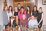 TREBLE BIRTHDAYS: Sinead Bohane, Jonathan Conway and Eddie Lacey celebrating their birthdays with family and friends at the Bella Bia restaurant, Tralee on Saturday seated l-r: Sinead Bohane, Jonathan Conway and Eddie Lacey. Back l-r: Sarah Walsh, Yvonne Long, Alex Rowan, Daniel Bohan, Emma Enright, Ainara Rodriguez, Ciara Murphy and Mags Lacey.