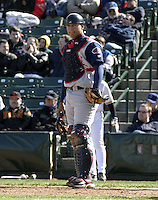 April 10, 2004:  /c/ Guillermo Quiroz (12) of the Syracuse Sky Chiefs, Class-AAA International League affiliate of the Toronto Blue Jays, during a game at Frontier Field in Rochester, NY.  Photo by:  Mike Janes/Four Seam Images