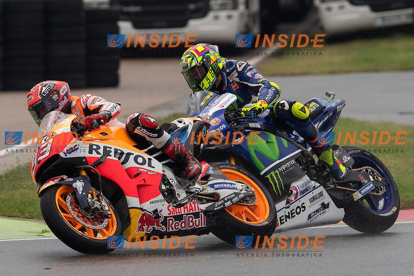 Sachsenring (Germania) 17-07-2015 - Moto GP / foto Luca Gambuti/Image Sport/Insidefoto<br /> nella foto: Marc Marquez-Valentino Rossi