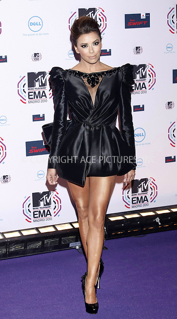 WWW.ACEPIXS.COM . . . . .  ..... . . . . US SALES ONLY . . . . .....November 7 2010, Madrid....Eva Longoria at the MTV Europe Music Awards on November 7 2010 in Madrid....Please byline: FAMOUS-ACE PICTURES... . . . .  ....Ace Pictures, Inc:  ..Tel: (212) 243-8787..e-mail: info@acepixs.com..web: http://www.acepixs.com