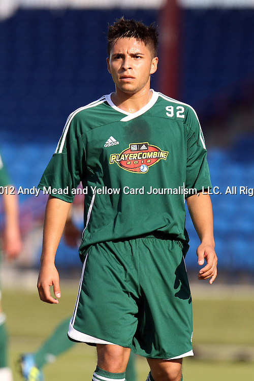 06 January 2012: Eder Arreola (UCLA). The 2012 MLS Player Combine was held on the cricket oval at Central Broward Regional Park in Lauderhill, Florida.