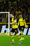 10.11.2018, Signal Iduna Park, Dortmund, GER, 1.FBL, Borussia Dortmund vs FC Bayern M&uuml;nchen, DFL REGULATIONS PROHIBIT ANY USE OF PHOTOGRAPHS AS IMAGE SEQUENCES AND/OR QUASI-VIDEO<br /> <br /> im Bild | picture shows:<br /> Marco Reus (Borussia Dortmund #11) jubelt &uuml;ber seinen Treffer zum 2:2, <br /> <br /> Foto &copy; nordphoto / Rauch