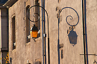 street lamp and shadow beaune cote de beaune burgundy france