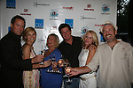 Robert Bogue, Mandy Bruno, Kim Zimmer, Michael O'Leary, Beth Chamberlin and Adam Reist make a toast - Guiding Light Bon Voyage party was held on July 30, 2010 for many radio winners at Sd 26 Lounge, NYC.  (Photos by Sue Coflin/Max Photos)
