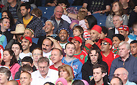 Men's Olympic Football match Honduras v Morocco on 26.7.12...Moroccan fans, during the Honduras v Morocco Men's Olympic Football match at Hampden Park, Glasgow...........