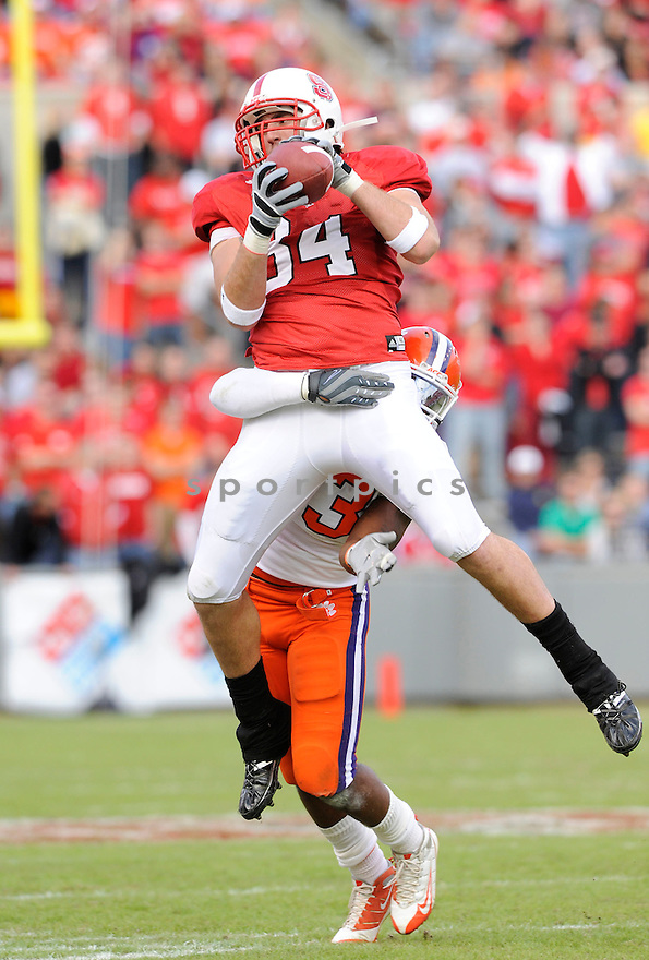 GEORGE BRYAN, of the North Carolina State Wolfpack, in action during the Wolfpacks game against the Clemson Tigers on November 14, 2009 in Raleigh, NC. Clemson won 43-23.