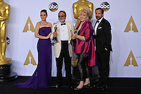 Tina Fey & Colin Gibson & Lisa Thompson & Steve Carell at the 88th Academy Awards at the Dolby Theatre, Hollywood.<br /> February 28, 2016  Los Angeles, CA<br /> Picture: Paul Smith / Featureflash