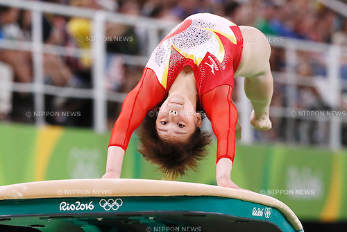Mai Murakami (JPN), <br /> AUGUST 9, 2016 - Artistic Gymnastics : <br /> Women's Final <br /> Vault  <br /> at Rio Olympic Arena <br /> during the Rio 2016 Olympic Games in Rio de Janeiro, Brazil. <br /> (Photo by Sho Tamura/AFLO SPORT)