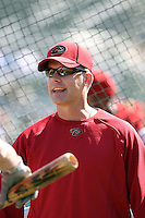 AJ Hinch - manager. Arizona Diamondbacks spring training game vs. Chicago Cubs at Hohokam Stadium, Mesa, AZ - 03/05/2010.Photo by:  Bill Mitchell/Four Seam Images.