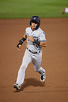 Staten Island Yankees shortstop Eduardo Torrealba (13) runs the bases during a game against the Aberdeen IronBirds on August 23, 2018 at Leidos Field at Ripken Stadium in Aberdeen, Maryland.  Aberdeen defeated Staten Island 6-2.  (Mike Janes/Four Seam Images)