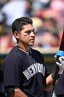 New York Yankees outfielder Jacoby Ellsbury (22) before a Spring Training game against the Pittsburgh Pirates on March 5, 2015 at McKechnie Field in Bradenton, Florida.  New York defeated Pittsburgh 2-1.  (Mike Janes/Four Seam Images)