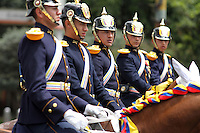 BOGOTA - COLOMBIA - 20 -07 - 2016:  Miembros de la Fuerzas Militares de Colombia, desfilan durante la ceremonia con motivo del 206 aniversario del Dia de la Independencia Nacional. / Members of the Military Forces of Colombia, parading during the ceremony to mark the 206 anniversary of the National Independence Day. VizzorImage / Nelson Cárdenas - SIG? / Cont