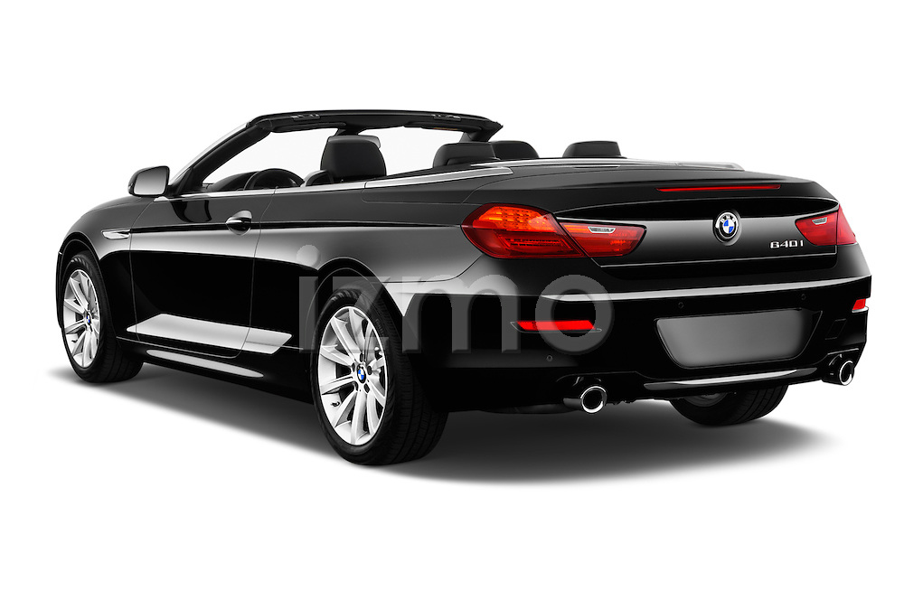 Car pictures of rear three quarter view of 2016 BMW 6 Series 640i Black Accent Pkg 2 Door Convertible Angular Rear