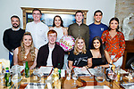 Rachel Lynch from Tralee celebrating her birthday in Bella Bia on Saturday.<br /> Seated l to r: Aisling O'Mahoney, Shane O'Callaghan, Rachel Lynch and Kayleigh Quirke.<br /> Back l to r: John Dennis, Greg Horan, Sarah Hobbert, Dick Murphy, Wayne Guthrie and Rachel Browne.