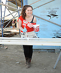 Emma Kenney at the Habitat For Humanity With Stars From Shamless and House Of Lies help build homes in Los Angeles, CA. October 25, 2014.