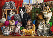 Interlitho-Marcello,realistic animals,cats, paintings+++++,KL4513,#A#, EVERYDAY ,puzzles