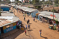 During election violence three years ago, this road in Nairobi's Kibera slum was torched as rival political gangs fought over disputed polls. Since then, businesses have rebuilt but there are growing concerns ahead of the looming 2012 elections.