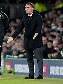 6th February 2019, Celtic Park, Glasgow, Scotland; Ladbrokes Premiership football, Celtic versus Hibernian; Brendan Rodgers Celtic Manager asks the questions of his team