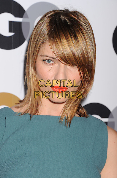 Ivana Milicevic.Arriving at the GQ Men Of The Year Party at Chateau Marmont Hotel in Los Angeles, California, USA..November 13th, 2012.headshot portrait green blue teal orange coral lipstick sweeping fringe bangs hair.CAP/ROT/TM.©Tony Michaels/Roth Stock/Capital Pictures
