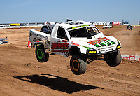 Mar. 18, 2011; Chandler, AZ, USA;  LOORRS pro 2 unlimited driver Jesse James during qualifying for round one at Firebird International Raceway. Mandatory Credit: Mark J. Rebilas-