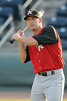 August 25, 2009: Outfielder Ryan Lee (21) of the Kannapolis Intimidators, 2009 41st round draft pick of the Chicago White Sox out of Cal Poly, in a game at Fluor Field at the West End in Greenville, S.C. Photo by: Tom Priddy/Four Seam Images