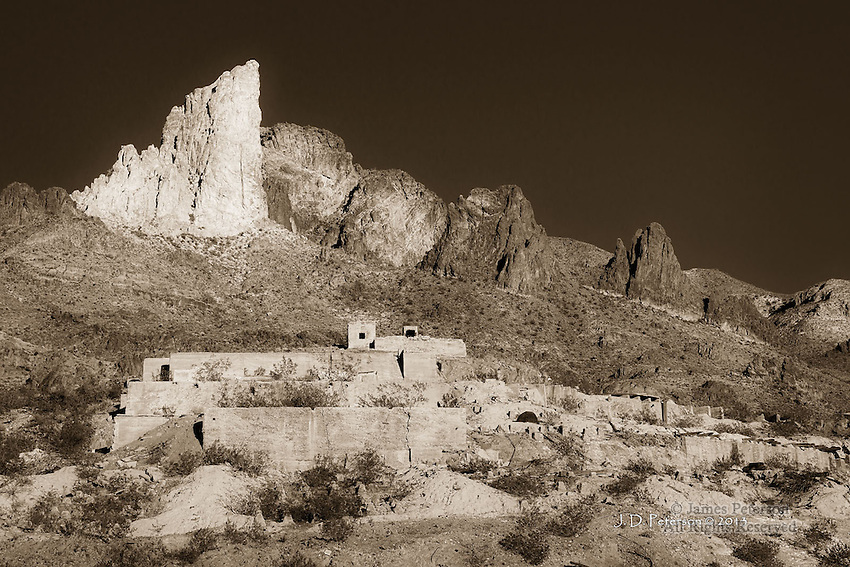 Abandoned Mine in Black Mountains, near Oatman, Arizona