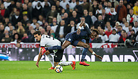 Mats Hummels (Bayern Munich) of Germany stops Tammy Abraham (Swansea City on loan from Chelsea) of England during the International Friendly match between England and Germany at Wembley Stadium, London, England on 10 November 2017. Photo by Andy Rowland.