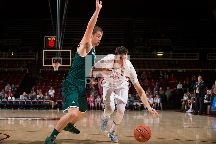 Stanford, CA - November 13, 2015: Stanford Men's Basketball vs Wisconsin-Green Bay. Final score Stanford 93   Wisconsin 89.