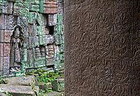 APSARA figure  in the corridors of Preah Khan, Angkor, Siem Reap, Cambodia