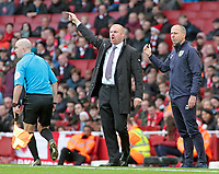 Burnley manager Sean Dyche shouts instructions to his team from the touchline<br /> <br /> Photographer David Shipman/CameraSport<br /> <br /> The Premier League - Arsenal v Burnley - Saturday 22nd December 2018 - The Emirates - London<br /> <br /> World Copyright © 2018 CameraSport. All rights reserved. 43 Linden Ave. Countesthorpe. Leicester. England. LE8 5PG - Tel: +44 (0) 116 277 4147 - admin@camerasport.com - www.camerasport.com
