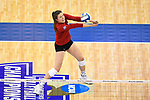 KANSAS CITY, MO - DECEMBER 16: Mikaela Foecke (2) of the University of Nebraska bumps the ball during the Division I Women's Volleyball Championship held at Sprint Center on December 16, 2017 in Kansas City, Missouri. (Photo by Jamie Schwaberow/NCAA Photos via Getty Images)