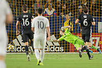 CARSON, CA - SEPTEMBER 15: Tim Melia #29 of Sporting Kansas City lets one get by him during a game between Sporting Kansas City and Los Angeles Galaxy at Dignity Health Sports Complex on September 15, 2019 in Carson, California.