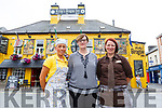 Noreen O'Mahony, Fiona Kirby and Lisa Byrne outside the Brogue Inn on Monday