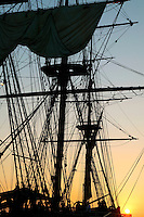 The H.M.S Surprise is a magnificent replica of an 18th century British warship that has apperead in movie Master and Commander: The Far Side of the World, Maritime Museum of San Diego, California