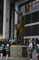 Enthuellung der Statue zu Ehren der Dolphins von 1972<br /> AFC vs. NFC Pro Bowl, Sun Life Stadium *** Local Caption *** Foto ist honorarpflichtig! zzgl. gesetzl. MwSt. Auf Anfrage in hoeherer Qualitaet/Aufloesung. Belegexemplar an: Marc Schueler, Alte Weinstrasse 1, 61352 Bad Homburg, Tel. +49 (0) 151 11 65 49 88, www.gameday-mediaservices.de. Email: marc.schueler@gameday-mediaservices.de, Bankverbindung: Volksbank Bergstrasse, Kto.: 52137306, BLZ: 50890000