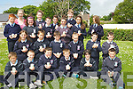 David Fitzgerald, Darragh Lout,Dylan Usher Moran, Joe Trant, Vicky Perry, and Colm Healy. 2nd row l-r: Armela Antz, Brian O'Regan, Niall Marley,Norette Casey, Jamie O'Hara and Fiachra Ennis. 3rd row l-r: Diarmuid O'Connor, Marie O'Connor(teacher), Emma Lawlor, Muireann O'Mahony,. Killian Dalton, Chantel kenny, Sally O'Mahony, John Crowley, Riadh Malik and Lauren O'Grady.....