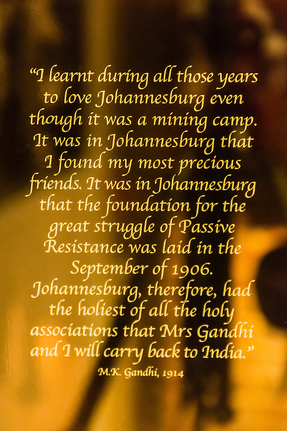 Mahatma Gandhi quote, Apartheid Museum, Johannesburg, South Africa.