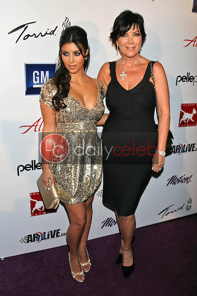 Kim Kardashian and Kris Jenner<br />
