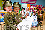 Kids from the Raheem preschool dressed up as 1916 heroes on Thursday front row l-r: Amy Murphy, Sophia O'donoghue, Jason Culloty, Amanda Hobbs. Back row: laoise cronin, Emma O'sullivan, Peter Tancred, Julia Casey, Max Tangney-Kissane and Robbie Murphy