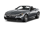 2018 Mercedes Benz SLC-Roadster AMG-SLC43 2 Door Convertible Angular Front stock photos of front three quarter view