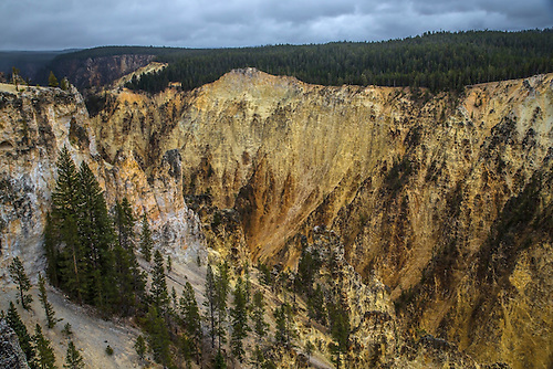 The Grand Canyon of the Yellowstone shows off its colors.