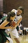 Photograph from the 2010-11 Mt. Rainier Lutheran High School girl's basketball State playoff run.