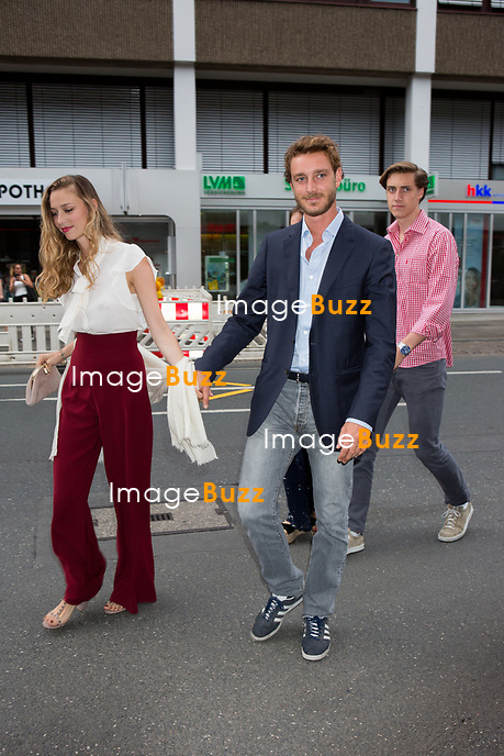 Soir&eacute;e d'avant-mariage du Prince Ernst junior de Hanovre et de Ekaterina Malysheva, &agrave; la Brasserie Ernst August Brauhaus, &agrave; Hanovre.<br /> Allemagne, Hanovre, 7 juillet 2017.<br /> Pre wedding party of Prince Ernst Junior of Hanover and Ekaterina Malysheva at the Ernst August Brauhaus restaurant in Hanover.<br /> Germany, Hanover, 7 july 2017<br /> Pic : Prince Pierre Casiraghi &amp; wife Beatrice Borromeo &amp; Ben Silvester Strautmann