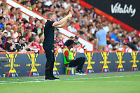 AFC Bournemouth Manager Eddie Howe gives the thumbs up during AFC Bournemouth vs Manchester City, Premier League Football at the Vitality Stadium on 25th August 2019