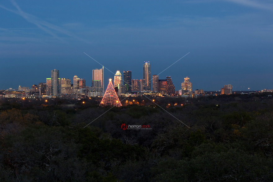 Zilker Tree Holiday Festival lighting the Christmas Tree at Zilker Park is an annual holiday tradition in Austin, Texas