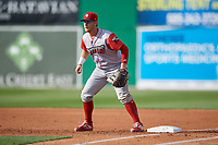 Williamsport Crosscutters first baseman Rudy Rott (26) during a NY-Penn League game against the Batavia Muckdogs on August 25, 2019 at Dwyer Stadium in Batavia, New York.  Williamsport defeated Batavia 10-3.  (Mike Janes/Four Seam Images)