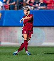 FRISCO, TX - MARCH 11: Rachel Daly #2 of England passes the ball during a game between England and Spain at Toyota Stadium on March 11, 2020 in Frisco, Texas.
