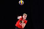14.09.2019, Paleis 12, BrŸssel / Bruessel<br />Volleyball, Europameisterschaft, Deutschland (GER) vs. Belgien (BEL)<br /><br />Aufschlag / Service Anton Brehme (#12 GER)<br /><br />  Foto © nordphoto / Kurth