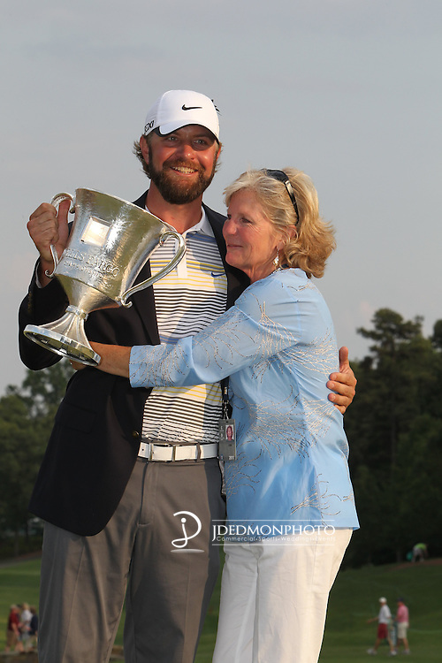 May 8,2011 - Lucas Glover celebrates his victory on mothers' day with his mom, Hershey Glover.  Lucas Glover wins the tournament in sudden death over Jonathan Byrd at Quail Hollow Country Club,Charlotte,NC.